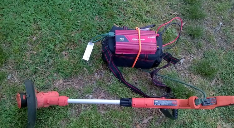 Inverter Experiment As Battery Pack For Corded Lawn Tool Phase 1 Weed Trimmer Phase 2 Small Corded Lawnmower Converting Dc To Ac Recycle Repurpose Reuse Upcycle Our Projects And Articles Your
