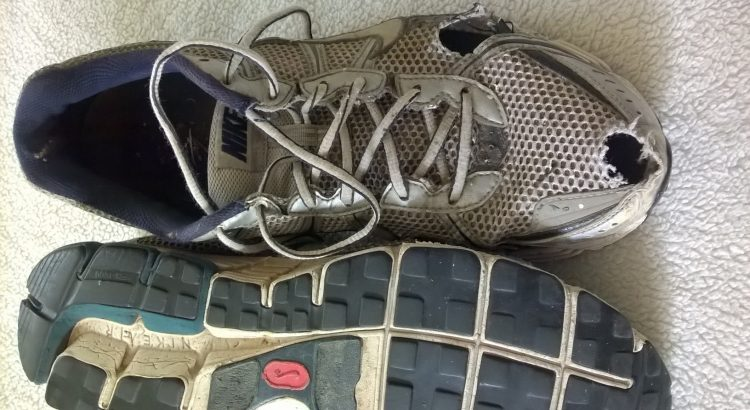 12f2ca71be63f6 Last pair Nike Air Pegasus running shoes developed holes after several  weeks